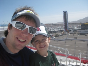 with Owain at Las Vegas Motor Speedway